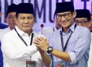 Prabowo Subianto - Sandiaga uno