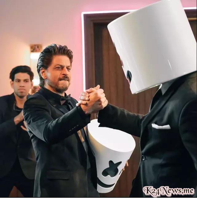 Marshmello Gandeng Shah Rukh Khan Di Videoklip, Bikin Lagu Berbahasa India