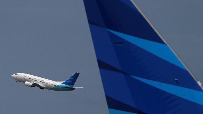 Ilustrasi pesawat Garuda Indonesia.